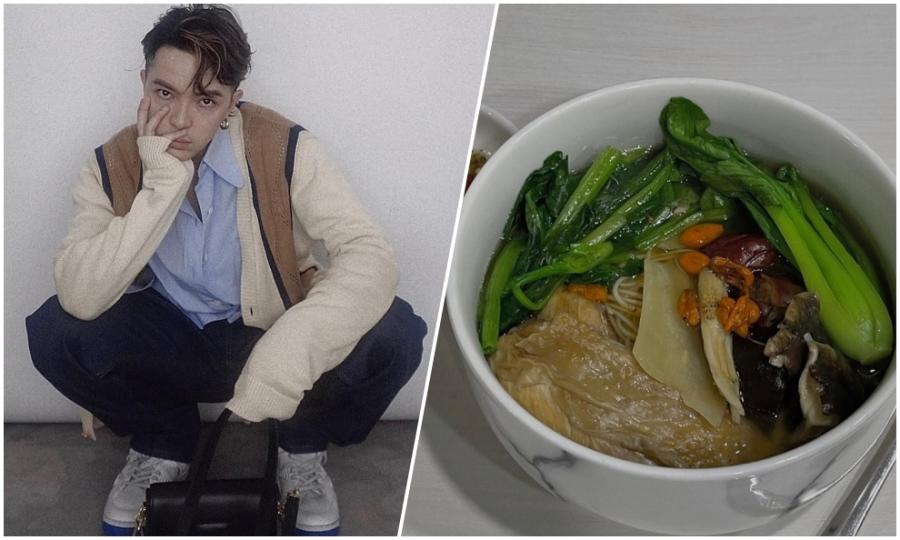 Kelbin Lei xếp hàng 4 tiếng đồng hồ mua rau nấu mì gà tiềm