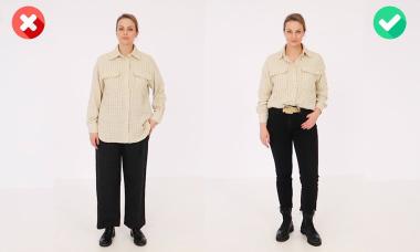 So sánh hiệu ứng thị giác của phom dáng trang phục
