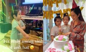 Con út Thanh Thúy nhảy mừng sinh nhật anh trai