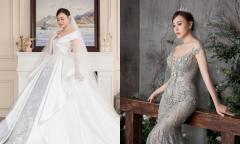 Phương Oanh diện hai váy cưới nửa tỷ đồng trong phim