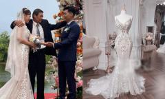 Phương Oanh diện váy cưới 350 triệu đồng trong 'Hương vị tình thân'