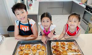 Các con Ốc Thanh Vân học làm bánh