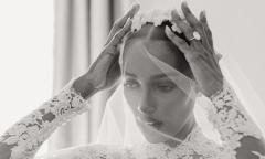 Váy cưới của cựu thiên thần nội y nhắc tới Grace Kelly
