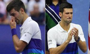 Djokovic rớt nước mắt hai lần trong chung kết Mỹ Mở rộng
