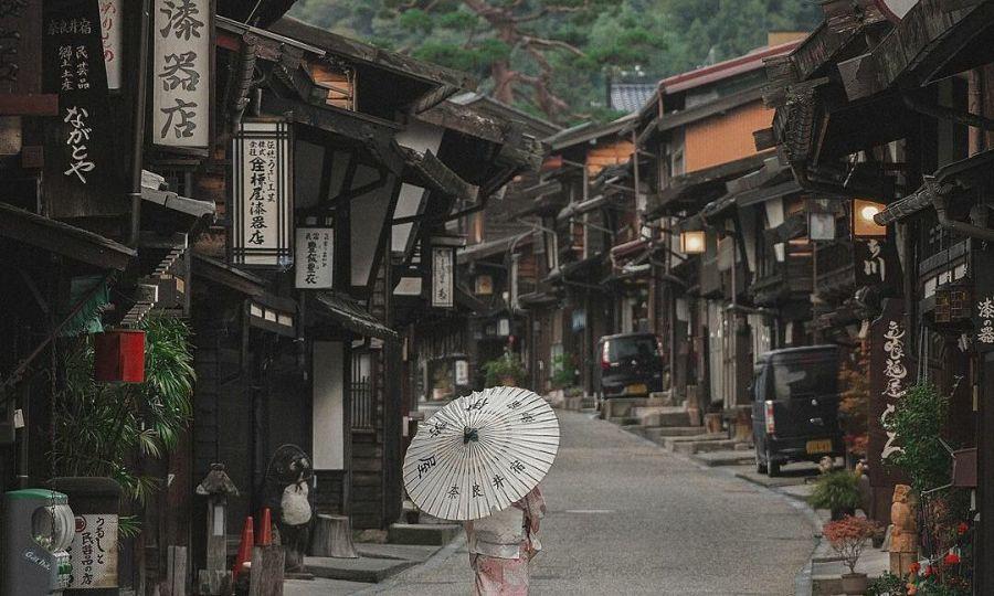 Thời gian như ngừng trôi trong thị trấn cổ ở Nhật Bản