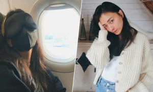 Ngô Thanh Vân bịt kín khi bay