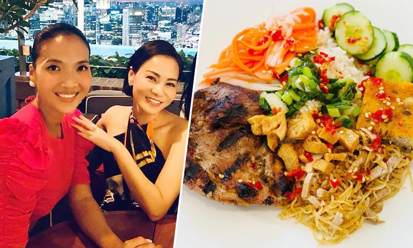 Bằng Lăng làm cơm tấm Sài Gòn đãi hội bạn Singapore