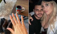 Vợ Icardi tháo nhẫn cưới