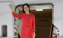 'Công chúa Huawei' trở lại văn phòng