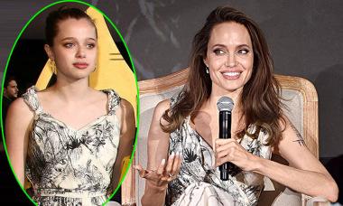 Shiloh nhà Jolie mặc váy cũ của mẹ trên thảm đỏ